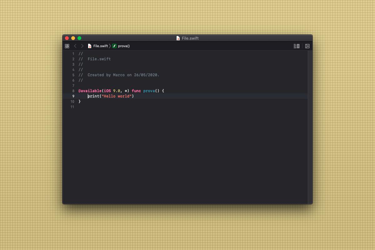 Come scrivere una funzione compatibile solo con iOS 9 in Swift