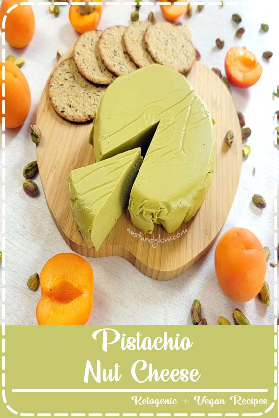 Pistachio Nut Cheese is a quick and easy vegan cheese made from just nuts Pistachio Nut Cheese
