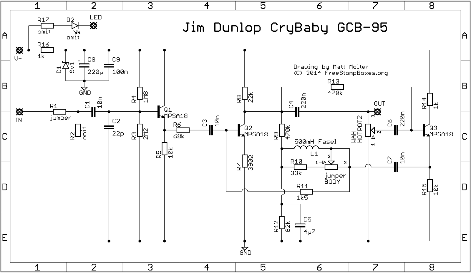 Guitar Fx Layouts Jim Dunlop Crybaby Gcb 95