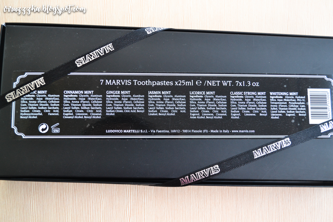 Marvis Toothpastes Ingredients Review