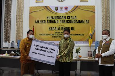 Menko Perekonomian Apresiasi Penangan Covid-19 di Provinsi Lampung