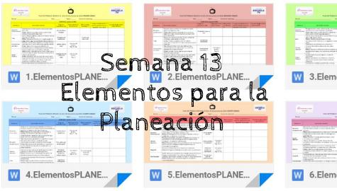 Plan de Trabajo SENL Semana 13 (16 al 20 de noviembre de 2020)