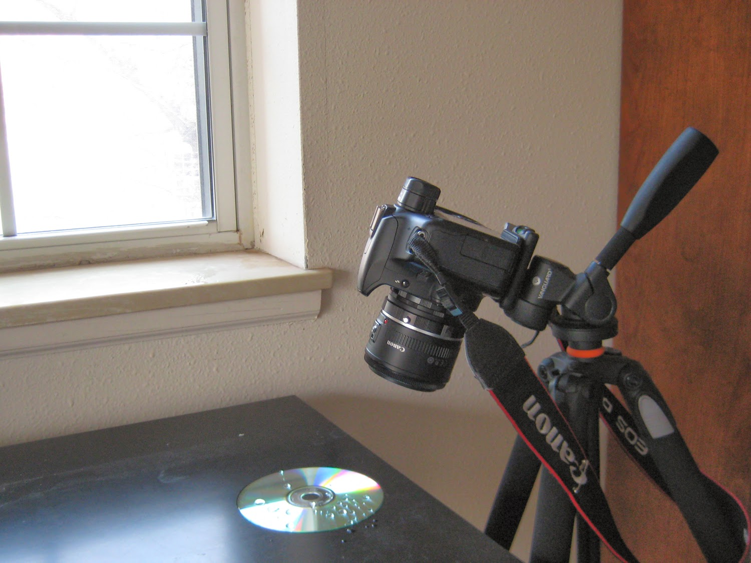 Set-Up for Water on CD Refraction | Boost Your Photography