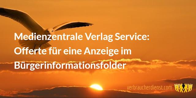 Titel: Medienzentrale Verlag Service: Offerte für eine Anzeige im Bürgerinformationsfolder