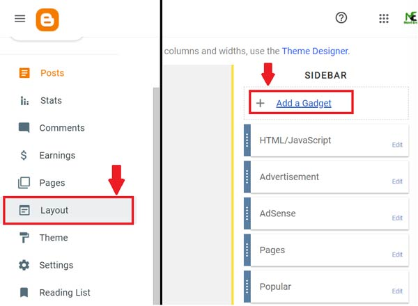 How to display a manual ad banner on the blogger website