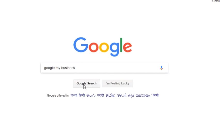 Type Google My business on Search Box for create new Google My Business account