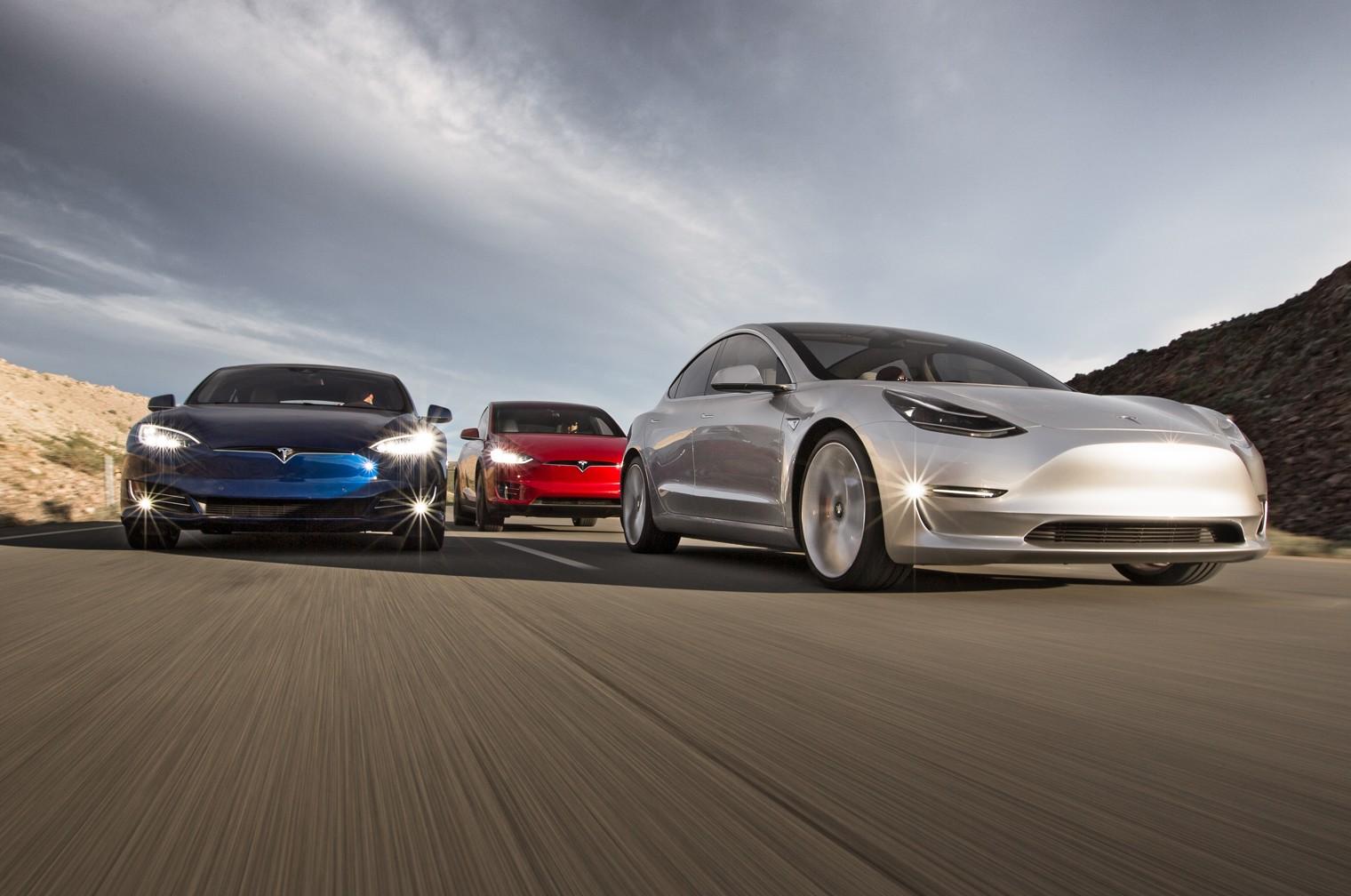 Tesla Model S, Model X, Model 3
