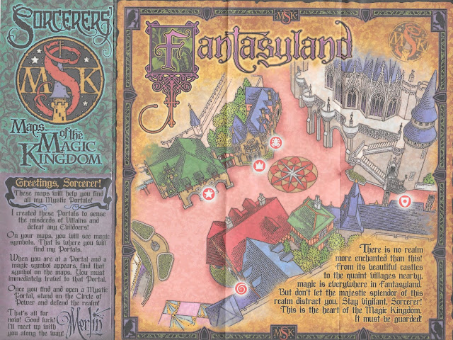 Fantasyland Sorcerers of the Magic Kingdom Map