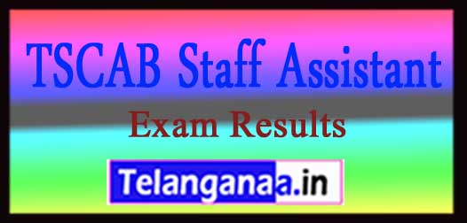 TSCAB Staff Assistant Exam 2018 Results Download