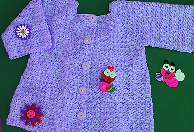 6 - Crochet Imagenes Abrigo rosa a crocher y ganchillo muy fácil y sencillo , lindo por Majovel Crochet