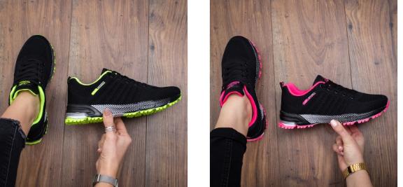 Pantofi sport dama negri moderni ieftini model 2019