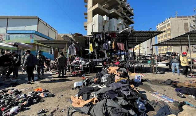 Homens-bomba provocam explosões deixando 32 mortos e mais de 100 feridos em Bagdá