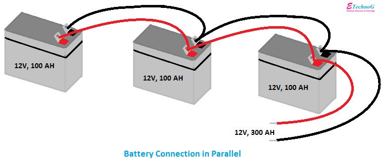 Battery Connection in Parallel, connection of battery