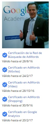 Certificados Google AdWords™