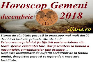 Horoscop Gemeni decembrie 2018