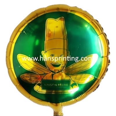 Balon Promosi Dengan Custom Printing Balon Foil Bulat