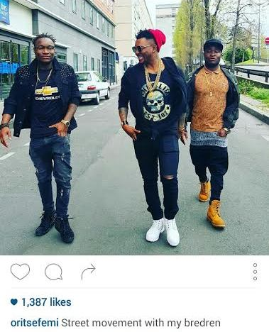 index Photo: Oritsefemi and crew in Paris