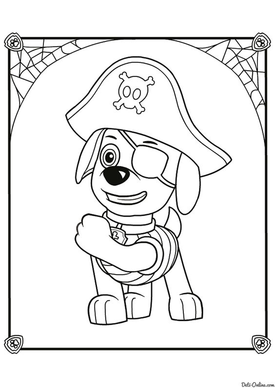 Paw patrol coloring pages 6