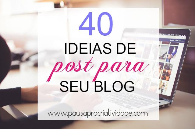 ideias de post para blog