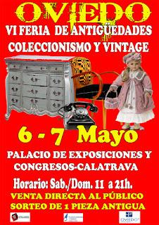 Cartel de la Feria de antiguedades de Oviedo