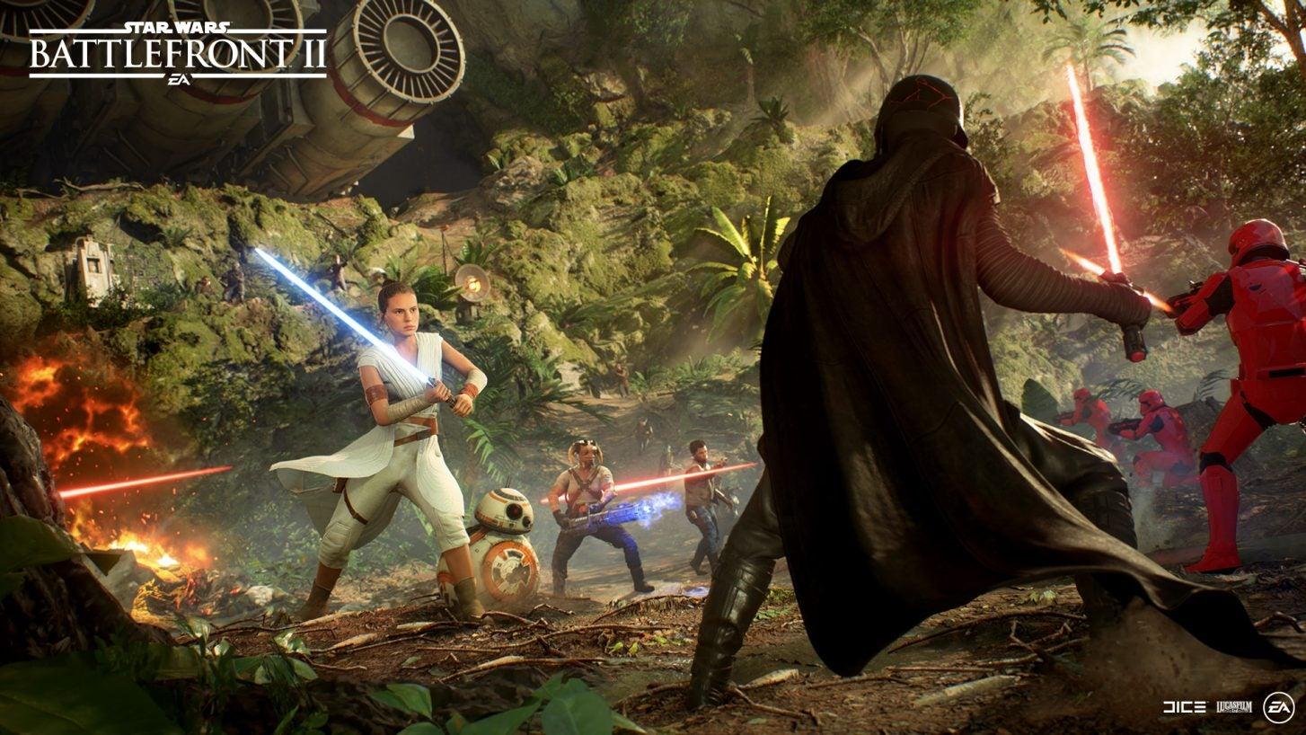 Star Wars, Battlefront II, Darth Vader, Rey, Video Game