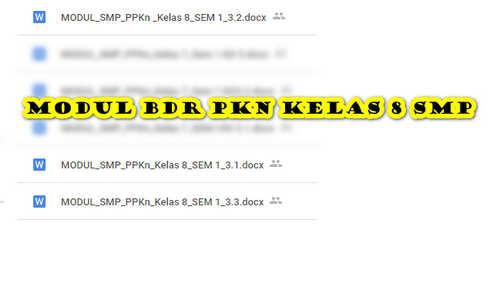 Modul BDR PKN Kelas 8 SMP/ MTs Semester 1 untuk Daring dan Luring