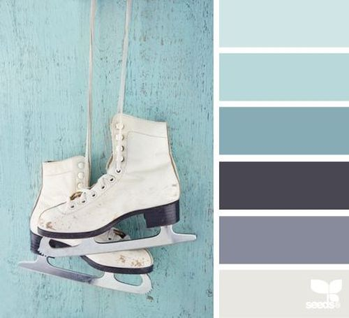 Winter Color Palette With Light Blue Greyish And Grey