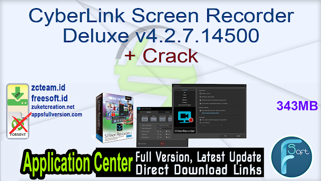 CyberLink Screen Recorder Deluxe v4.2.7.14500 + Crack_ ZcTeam.id