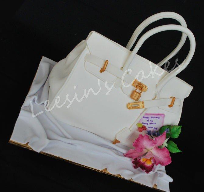 penang wedding cakes by leesin hermes birkin bag cake. Black Bedroom Furniture Sets. Home Design Ideas