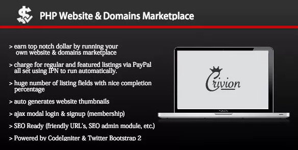 PHP Website and Domains Marketplace