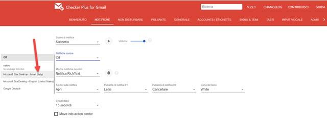 opzioni di checker plus for gmail