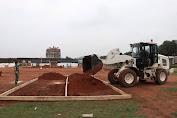 Satgas Kizi TNI Siapkan Lahan Tempat  Pusat Penanganan Covid -19 di Afrika  Tengah