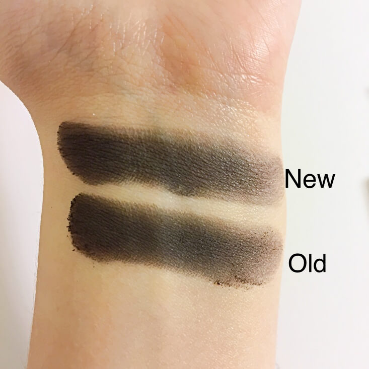 wet n wild coloricon Eyeshadow Single old vs new Panther swatches