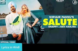सलूट Salute Lyrics in Hindi | Nirvair Pannu