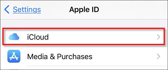 "اضغط على ""iCloud""."
