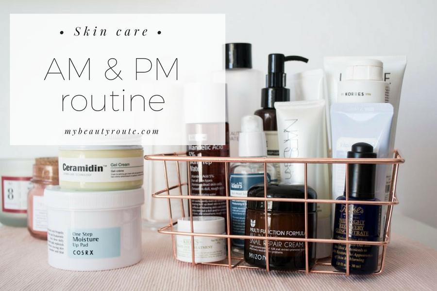 Productos rutina de cuidado facial mañana y noche