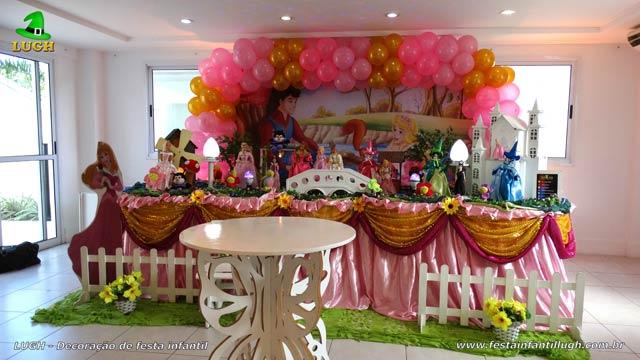 Decoração de aniversário A Bela Adormecida - Festa infantil Aurora