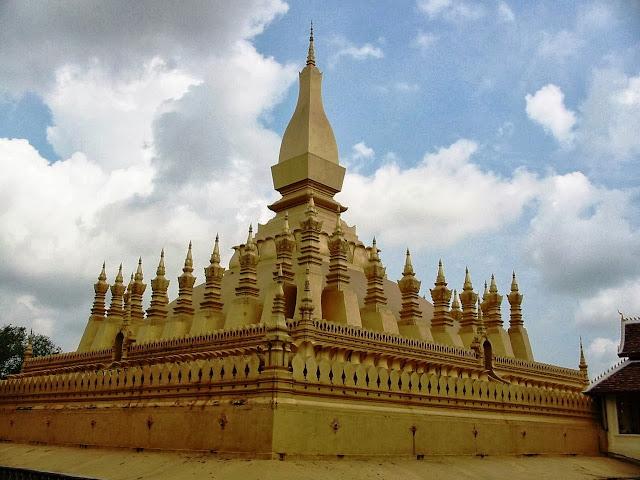 Golden Stupa in Vientiane, Laos