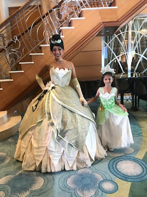 Disney cruise meeting Princess Tiana