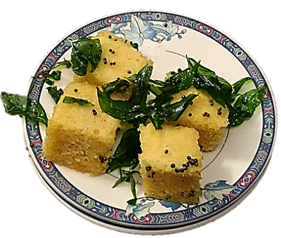 Nutritious Protein-Rich Dhokla of Green Moong Dal Flour.