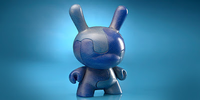 "Puzzle Dunny No. 2 Blue/Cyan 8"" Art Figure by Locknesters x Kidrobot"