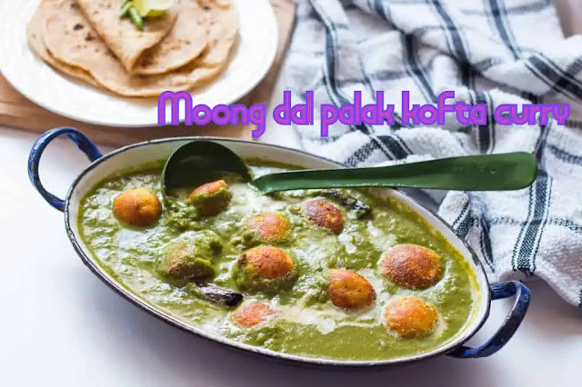 Moong dal palak kofta curry – curry made on the pan of spinach