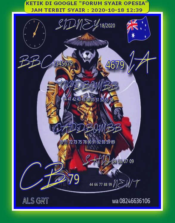 Kode syair Sydney Minggu 18 Oktober 2020 49
