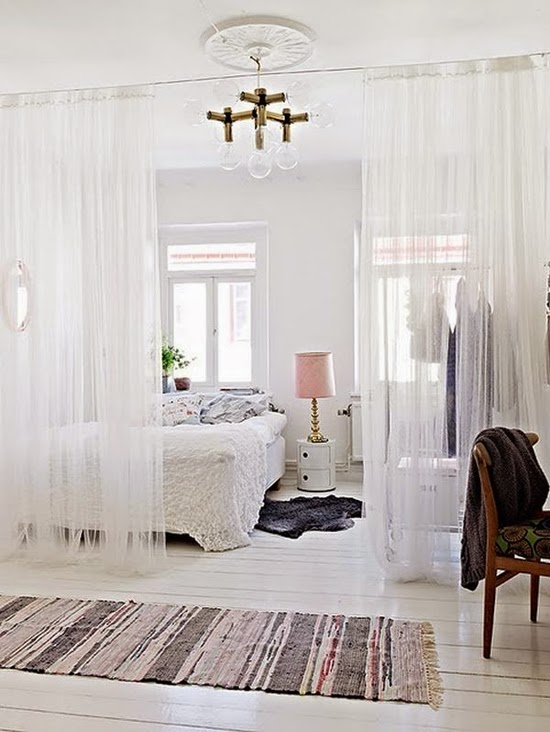 A Simple Kind Of Life: Inspiration: Curtain Room Dividers