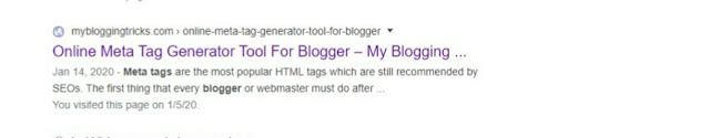 Blogger me meta tag description code kaise add karen, meta tag kaise add karen