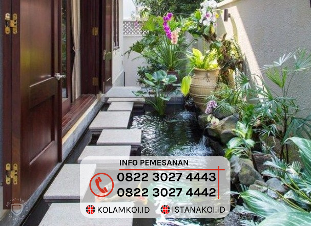 Kolam Ikan Koi Sederhana Design Minimalis di Bandung