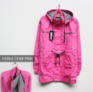 Parka Wanita Warna Pink