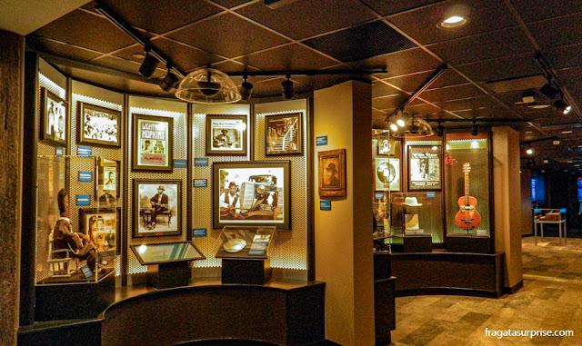Exposição permanente no Hall da Fama do Blues, em Memphis