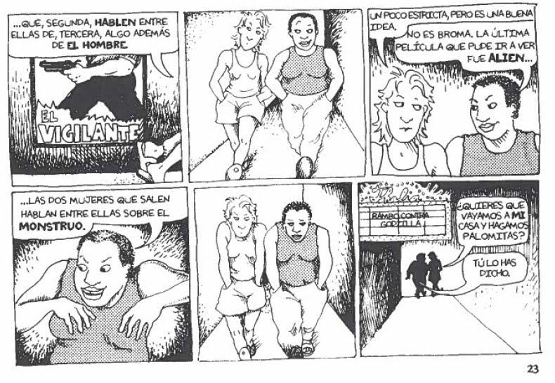 tira cómica donde aparece la escena descripta