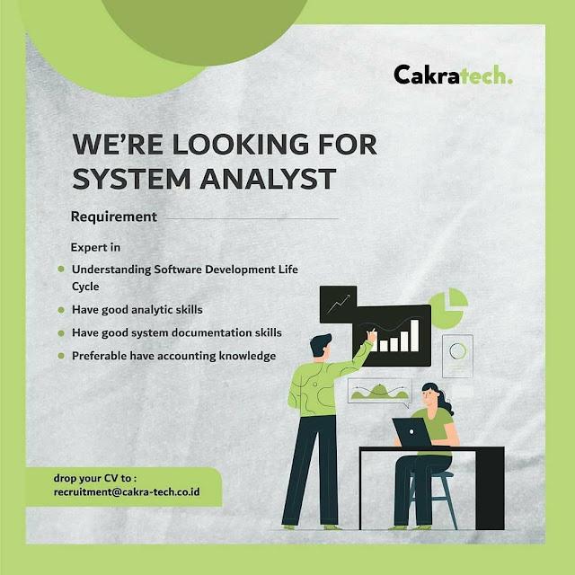 Lowongan Kerja System Analyst dan Backend Developer